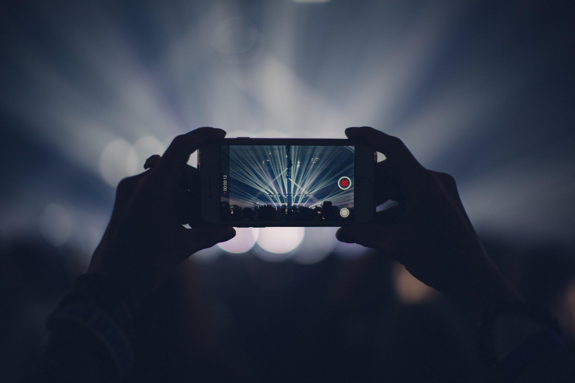 Shooting video on smartphone